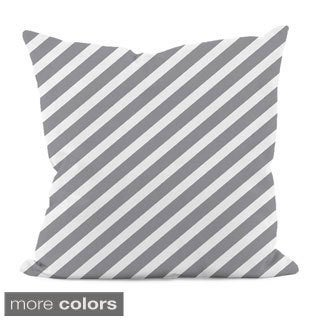 "Thin Diagonal Stripe 16"" x 16"" Decorative Pillow"