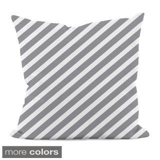 "Thin Diagonal Stripe 18"" x 18"" Decorative Pillow"