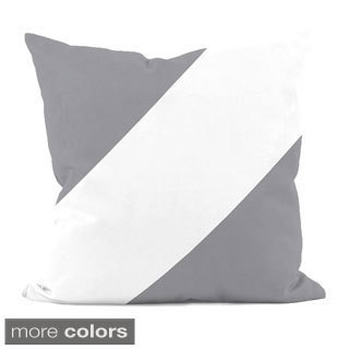 Neutral Diagonal Stripe 18x18-inch Decorative Pillow