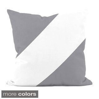 Neutral Diagonal Stripe 16x16-inch Decorative Pillow