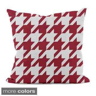 Bright Geometric Houndstooth 20x20-inch Decorative Pillow