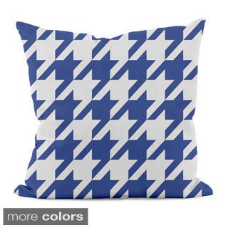 Bright Geometric Houndstooth 18x18-inch Decorative Pillow