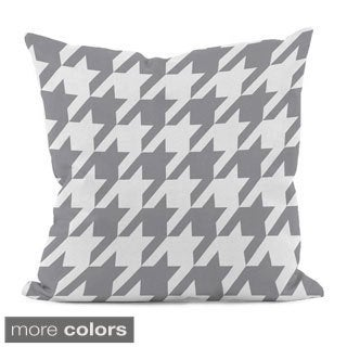 Bright Geometric Houndstooth 16x16-inch Decorative Pillow