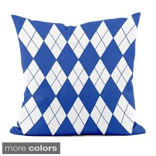 Bright Geometric Argyle 20x20-inch Decorative Pillow