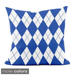 Bright Geometric Argyle 16x16-inch Decorative Pillow