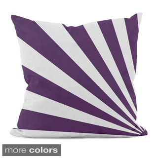 Bold Geometric Rays 20x20-inch Decorative Pillow