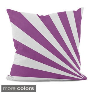 Bold Geometric Rays 16x16-inch Decorative Pillow