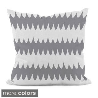 Bright Scalloped Stripe 20x20-inch Decorative Pillow