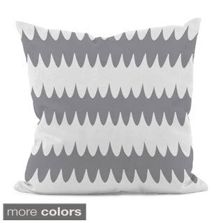 Bright Scalloped Stripe 18x18-inch Decorative Pillow