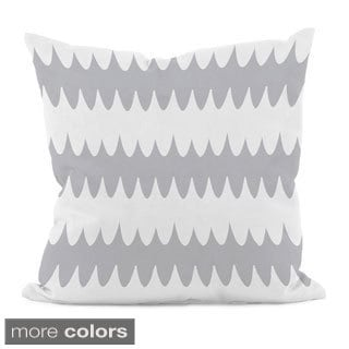 Bright Scalloped Stripe 16x16-inch Decorative Pillow