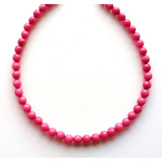 Every Morning Design Pink Faceted Jade Necklace