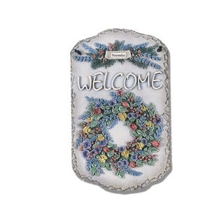 'Welcome Wreath' Resin Wall Art