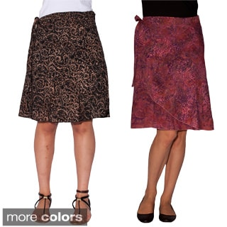 Women's Batik Print Classic Wraparound Skirt (Indonesia)