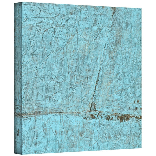 Elena Ray 'Cyan Swirl' Gallery-Wrapped Canvas 12819573