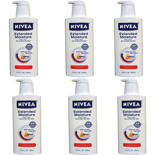 Nivea Extended Moisture 13.5-ounce Body Lotion for Dry to Very Dry Skin (Pack of 6)