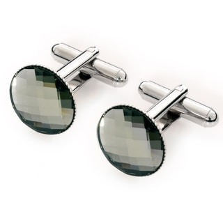 EJ Sutton Classic Men's Grey Swarovski Cufflinks (Israel)