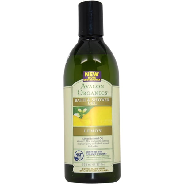 Avalon Organics Bath & Shower Lemon 12-ounce Gel