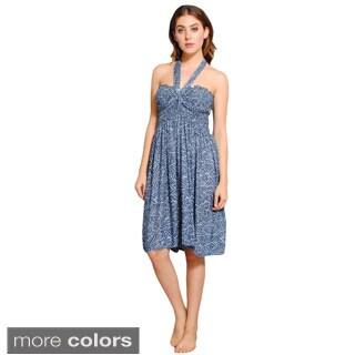 Women's Leaf-printed Batik Summer Dress (Nepal)