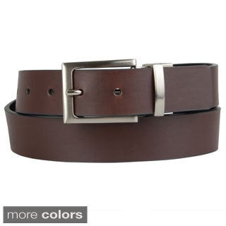 Steve Madden Men's Reversible Polished Buckle Belt