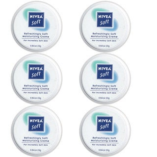 Nivea Soft Refreshingly Soft 0.84-ounce Moisturizing Creme (Pack of 6)