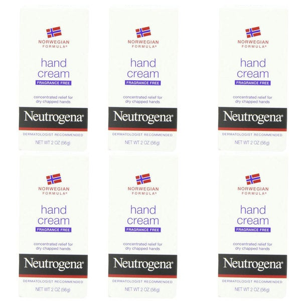 Neutrogena Norwegian Formula Fragrance-Free 2-ounce Hand Cream (Pack of 6)