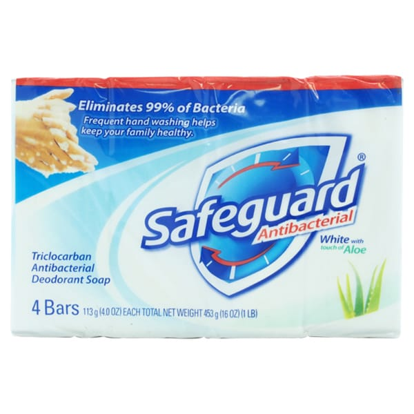 Safeguard Deodorant Antibacterial White Soap