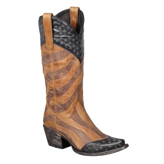 Women's 'Faded Glory' Distressed Pattern Cowboy Boots