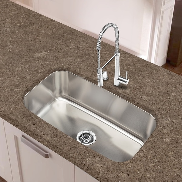 Extra Large Bathroom Sinks : Designer Collection 16-gauge Extra-large Single Bowl Sink - Overstock ...