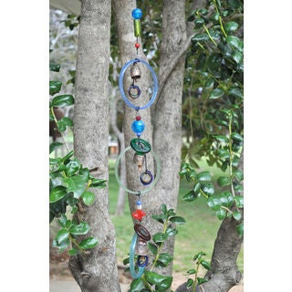 Handmade Glass Circles Wind Chime (India)