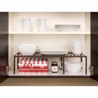 Seville Classics Bronze Expandable Kitchen Counter Shelf