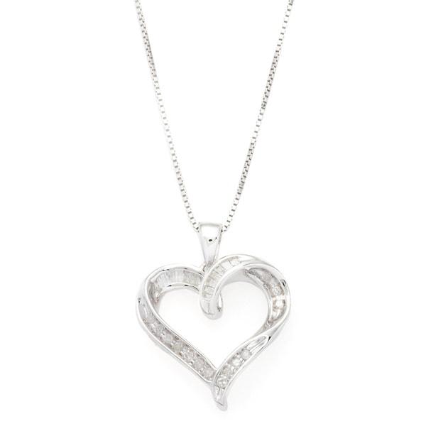 Sterling Silver Diamond Accent Heart Fashion Pendant
