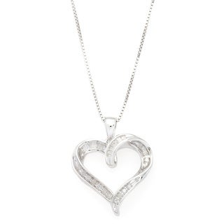 Sterling Silver Diamond Accent Heart Fashion Pendant