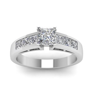 14k White Gold 3/4ct TDW Heart-shaped Diamond Engagement Ring (H-SI2)