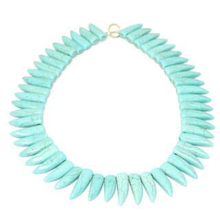 Gardenia Jewelry Turquoise Tribal Tooth Necklace