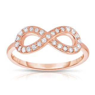 14k Rose Gold 1/4ct TDW Diamond Infinity Ring (H-I, I1-I2)