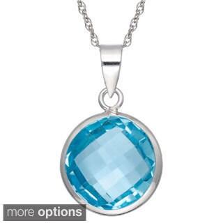 Gioelli Sterling Silver Gemstone Briolette Pendant Necklace
