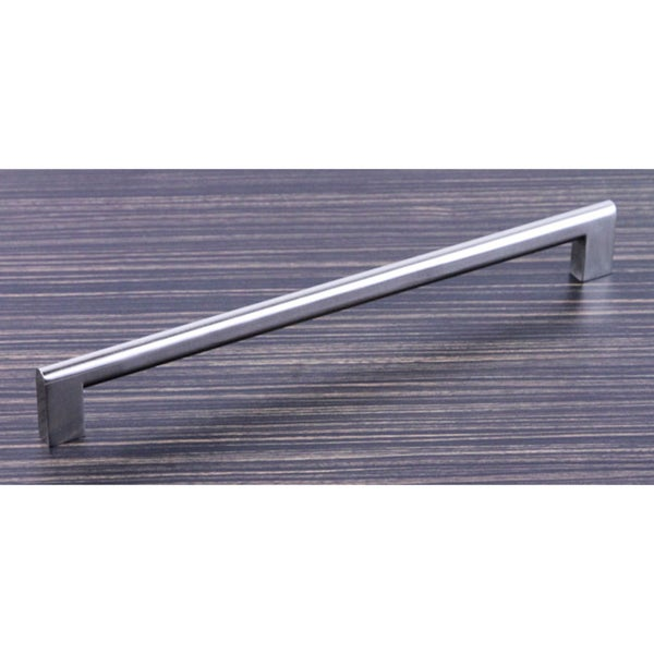 Contemporary 10.625-inch Key Shape Stainless Steel Finish Cabinet Bar Pull Handles (Set of 4)