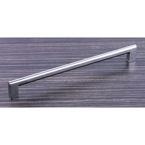 Contemporary 10.625-inch Key Shape Stainless Steel Finish Cabinet Bar Pull Handles (Set of 10)