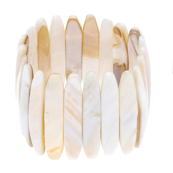Cream Sea Shell Stretch Bracelet
