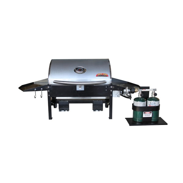 Party King Grills SWING'N Smoke Varsity 6412 RV Medium Grill, Standard Swing Arm and RV Bumper Brackets Set