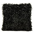 Michael Amini Shimmer Shag Black Throw Pillow (20-inch x 20-inch) by Nourison