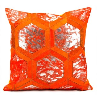 Michael Amini by Nourison Tangerine Throw Pillow (20-inches Square)