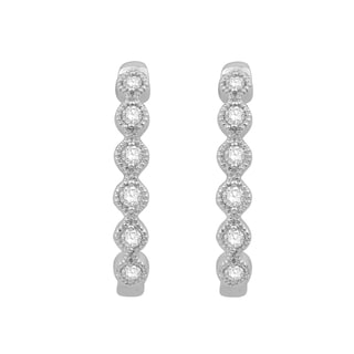 14k White Gold 1/5ct TWD Diamond Hoop Earring (H-I, I1-I2)