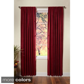 Celebration Microsuede Rod Pocket Curtain Panel Pair