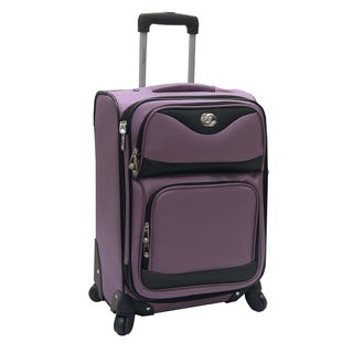 Oleg Cassini Estate Lavender 20-inch Carry On Expandable Spinner Upright