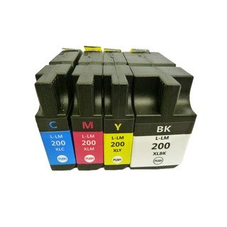 4PK (1K/1C/1M/1Y) Replacing Lexmark 200 XL Ink Cartridge 14L0174 14L0175 14L0176 14L0177 for Lexmark OfficeEdge Pro4000 Pro5500