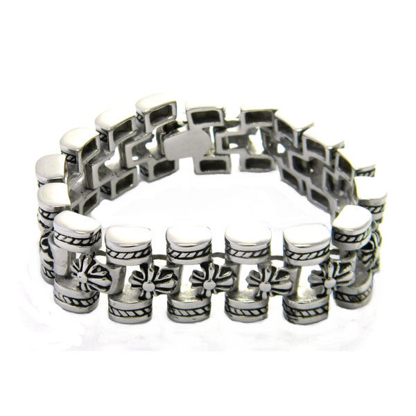 Stainless Steel Iron Cross Bracelet