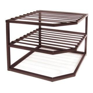 Seville Bronze Two-tier Corner Shelf Organizer