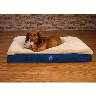 Serta Super Pillowtop Memory Foam Pet Bed