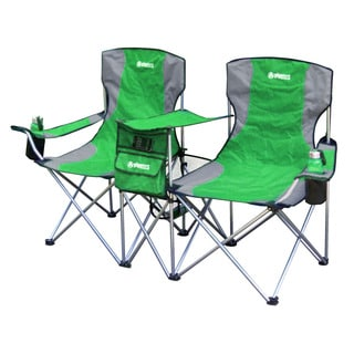 Side by Side Green Foldable Camping Chair
